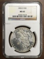 1903-O MORGAN SILVER DOLLAR - NGC MINT STATE 65 -  -  INVESTMENT GRADE COIN
