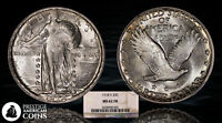 1918-S 25C SILVER STANDING LIBERTY QUARTER NGC MINT STATE 62 FH FULL HEAD - GREAT LUSTER