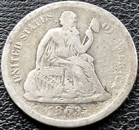 1863 S SEATED LIBERTY DIME 10C SAN FRANCISCO  DATE BETTER GRADE 15105
