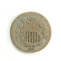 RAW 1869 SHIELD 5C UNCERTIFIED UNGRADED CIRCULATED US MINT NICKEL COIN