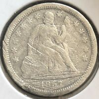1857 O SEATED LIBERTY DIME 10C CIRCULATED  NEW ORLEANS 12397
