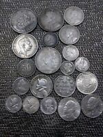 LOT OF OLD SILVER WORLD COINS BETTER CONDITIONS AND DATES