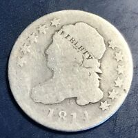 1814 CAPPED BUST DIME 10C CIRCULATED  8105