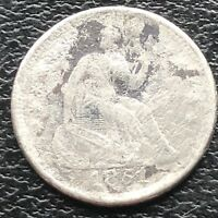 1851 O SEATED LIBERTY HALF DIME 5C NEW ORLEANS  CIRCULATED 11567
