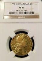 1771 GREAT BRITAIN GEORGE III GOLD GUINEA NGC XF 40 HIGH GRADE GREAT COIN