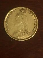 1892 1900 QUEEN VICTORIA GREAT BRITAIN GOLD COINS 1/2 SOVERE