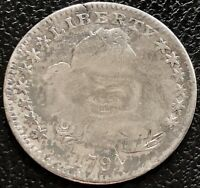 1797 DRAPED BUST HALF DIME 5C   EARLY DATE MANY DETAILS 15505