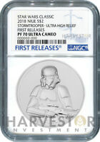 STAR WARS STORMTROOPER ULTRA HIGH RELIEF   2 OZ. COIN   NGC