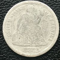 1872 SEATED LIBERTY DIME 10C CIRCULATED 14232