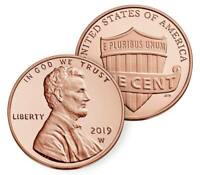 2019 W UNCIRCULATED LINCOLN SHIELD CENT IN OGP   WEST POINT MINT   FRESH/SEALED