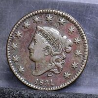 1831 LARGE CENT - VF DETAILS 22117