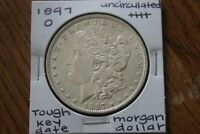 1897 O  KEY DATE  GREAT BREAST FEATHERS   UNC     MORGAN SIL