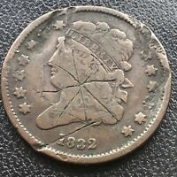 1832 CLASSIC HEAD HALF CENT 1/2 CENT CIRCULATED DAMAGED 17620