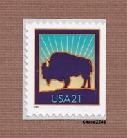 SCOTT 3484 BISON   AMERICAN BUFFALO 21C  S/A BOOKLET SINGLE  2001 MINT NH