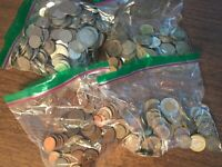 HUGE LOT OF FOREIGN COINS