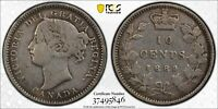 1889 CANADA SILVER 10 CENTS PCGS VF 30 10C