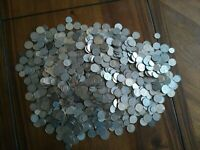 HUGE COLLECTION OF VARIOUS WORLD COINS  /  15.5 POUNDS NO RE