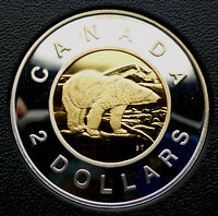 CANADIAN 2000 STERLING SILVER/GOLD PROOF TOONIE  $2