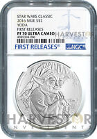 2016 SILVER STAR WARS CLASSIC   YODA   NGC PF70 FIRST RELEAS