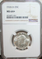 1926D  STANDING LIBERTY QUARTER NGC MINT STATE 64 MINT STATE 64 PLUS
