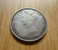 VICTORIA STERLING SILVER GOTHIC FLORIN 1852 NICE GREAT BRITA