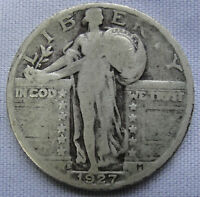 RAW 1927-S STANDING LIBERTY QUARTER 25C UNCERTIFIED 25 LOT RR6