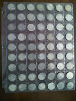 LOT OF 63 CANADIAN SILVER QUARTERS  25C  1960 1966 NO RESERV