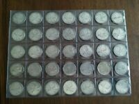 COLLECTION OF 35 SILVER QUARTERS  25C  FROM 1960 1964 NO RES