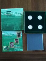 1996 LITTLE WILD ONES 4X50C SILVER COIN SET NO RESERVE