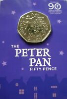PETER PAN 50P GREAT ORMOND STREET HOSPITAL SPECIAL EDITION COIN 2019