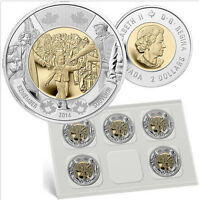 2014 CANADA $2 WAIT FOR ME DADDY CIRCULATION COIN PACK OF 5
