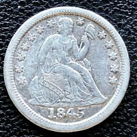 1845 SEATED LIBERTY DIME 10C HIGH GRADE EXTRA FINE  18647