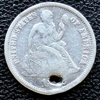 1872 SEATED LIBERTY DIME 10C HIGH GRADE EXTRA FINE  DET. 18657