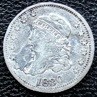 1830 CAPPED BUST HALF DIME 5C HIGHER GRADE VF DET. 18680