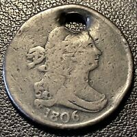 1806 DRAPED BUST HALF CENT 1/2 CENT CIRCULATED 17045
