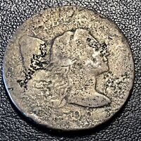 1795 LARGE CENT LIBERTY CAP FLOWING HAIR ONE CENT BETTER GRADE CORRODED 17053