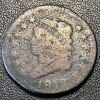 1812 LARGE CENT CLASSIC HEAD ONE CENT 1C CIRCULATED  17068