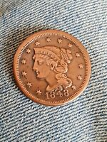 1848 BRAIDED LARGE CENT.  R DATE HIGH GRADE
