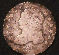 1825-P CAPPED BUST SILVER DIME.  SHIPS FREE