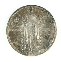 RAW 1919-D STANDING LIBERTY 25C CIRCULATED US SILVER QUARTER COIN