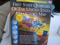 2 VINTAGE 1999 2008 FIRST STATE QUARTERS COLLECTORS  MAP NO