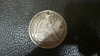 VINTAGE 1847 SEATED LIBERTY SILVER DOLLAR