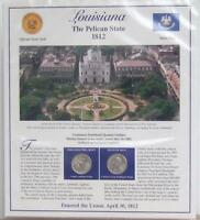 LOUISIANA STATEHOOD QUARTERS P D 2002  POSTAL PANEL COLLECTI