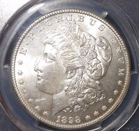 1898 $1 MORGAN SILVER DOLLAR PCGS MINT STATE 62  NOTE: VAM 2A