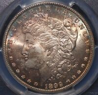 1899 $1 VAM-6 MORGAN SILVER DOLLAR PCGS MINT STATE 66  VAM-6 OPEN AND CLOSED 9'S RAINBOWS