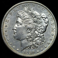 1880 P MORGAN DOLLAR, BRILLIANT UNCIRCULATED CONDITION, REVERSE LAMINATION C4411