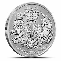 2019 GREAT BRITAIN THE ROYAL ARMS   1 OZ. 999 PURE SILVER COIN   BU   IN STOCK