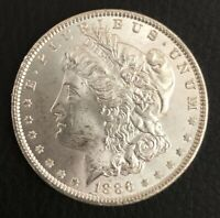 1886  MORGAN SILVER DOLLAR BRILLIANT UNCIRCULATED  MINT LUSTER