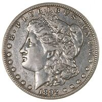 RAW 1892 MORGAN $1 UNCERTIFIED CIRCULATED US MINT SILVER DOLLAR COIN