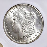 1897-S MORGAN DOLLAR - OLD PLASTIC - GEM BU 24043